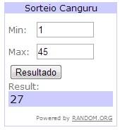 RESULTADO SORTEIO CANGURU
